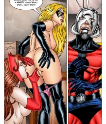 Antman comics. Part 4: Scarlet Witch licks Miss Marvel's tight asshole!