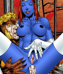 Mystique and Sabertooth fucking hard
