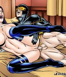 Psylocke feels Cyclop's dick deep inside her