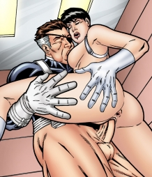 Nick Fury fucks Maria Hill in his office!