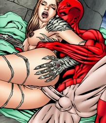 Member requested gallery features Witchblade getting anal from Daredevil!