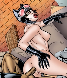 Catwoman gets a hard anal fucking from Black Panther!
