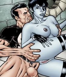 Domino getting hot anal sex from the Punisher!
