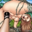 Lesbian sex in the jungle with Lara Croft and Witchblade!