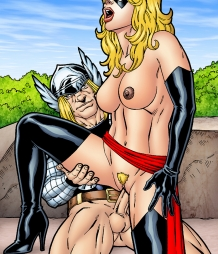 Ms. Marvel takes anal and a facial from almighty Thor!