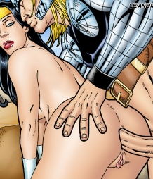 Thor and Wonder Woman having hot anal sex!