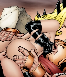 Magik gets an anal creampie from Juggernaut!