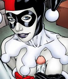 Harley Quinn letting Joker fuck her brains out in POV