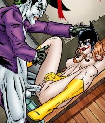 Batgirl at the mercy of Joker's hard cock