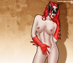 Sultry desktop wallpaper featuring the lovely and naked Batwoman!