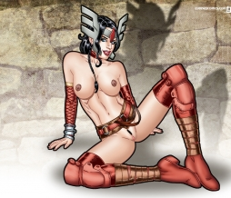 Lady Sif naked, naughty and ready for battle in your desktop!
